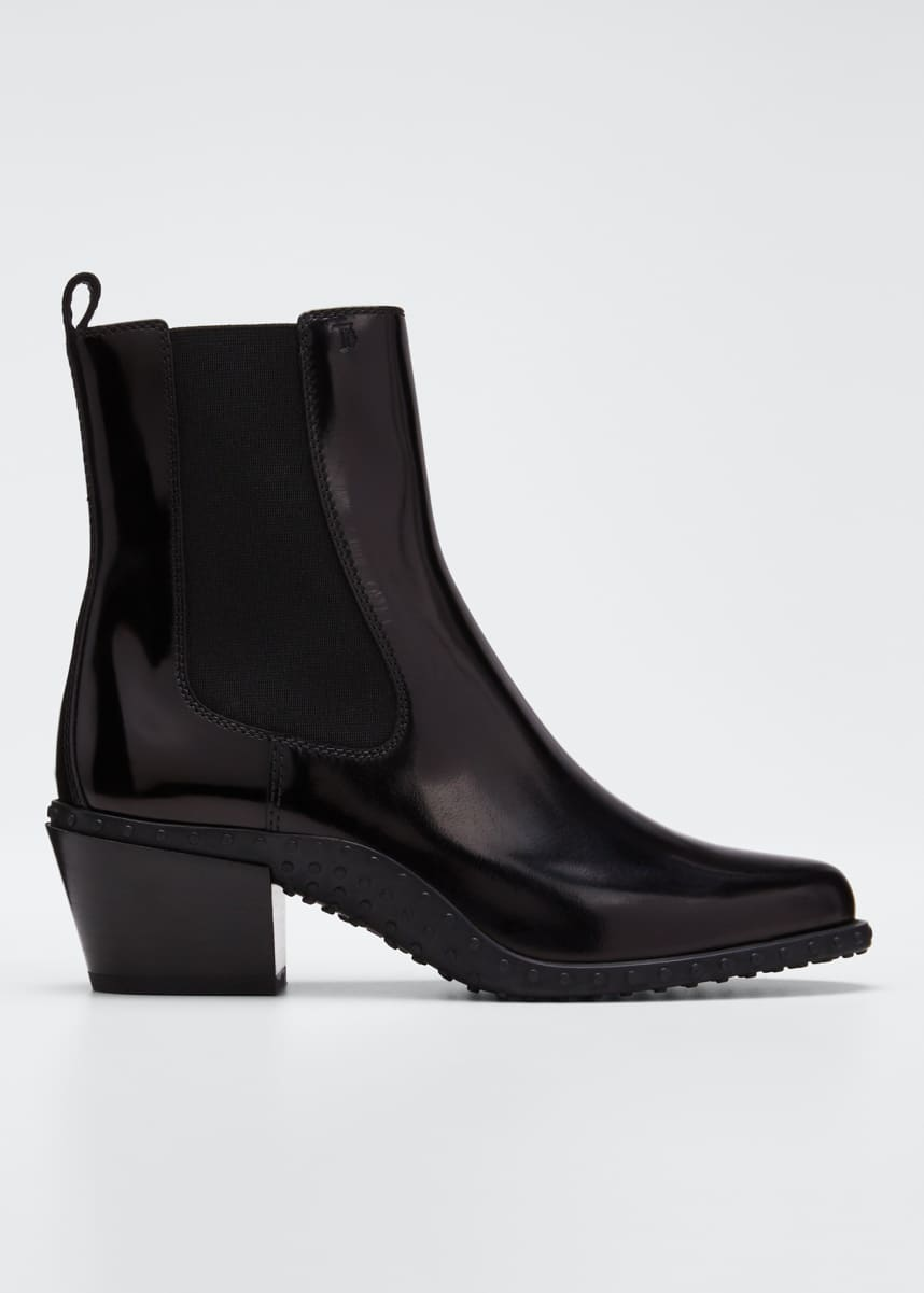 Tod's Fashion Tex Patent Booties