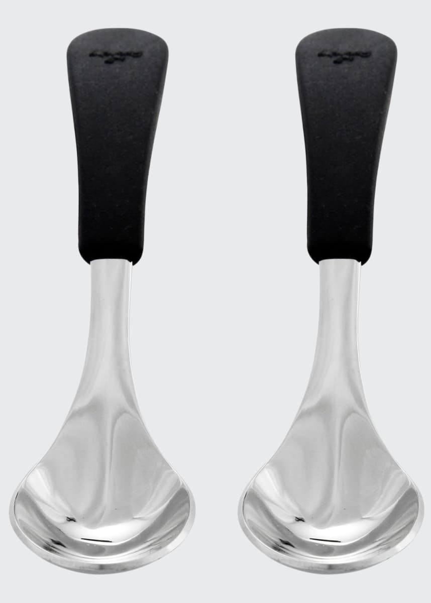 Avanchy Baby's Stainless Steel & Silicone Spoons, Set of 2