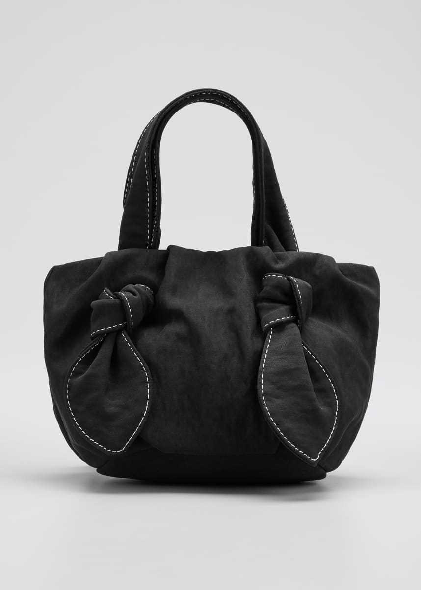 Staud Ronnie Satin Knotted Tote Bag