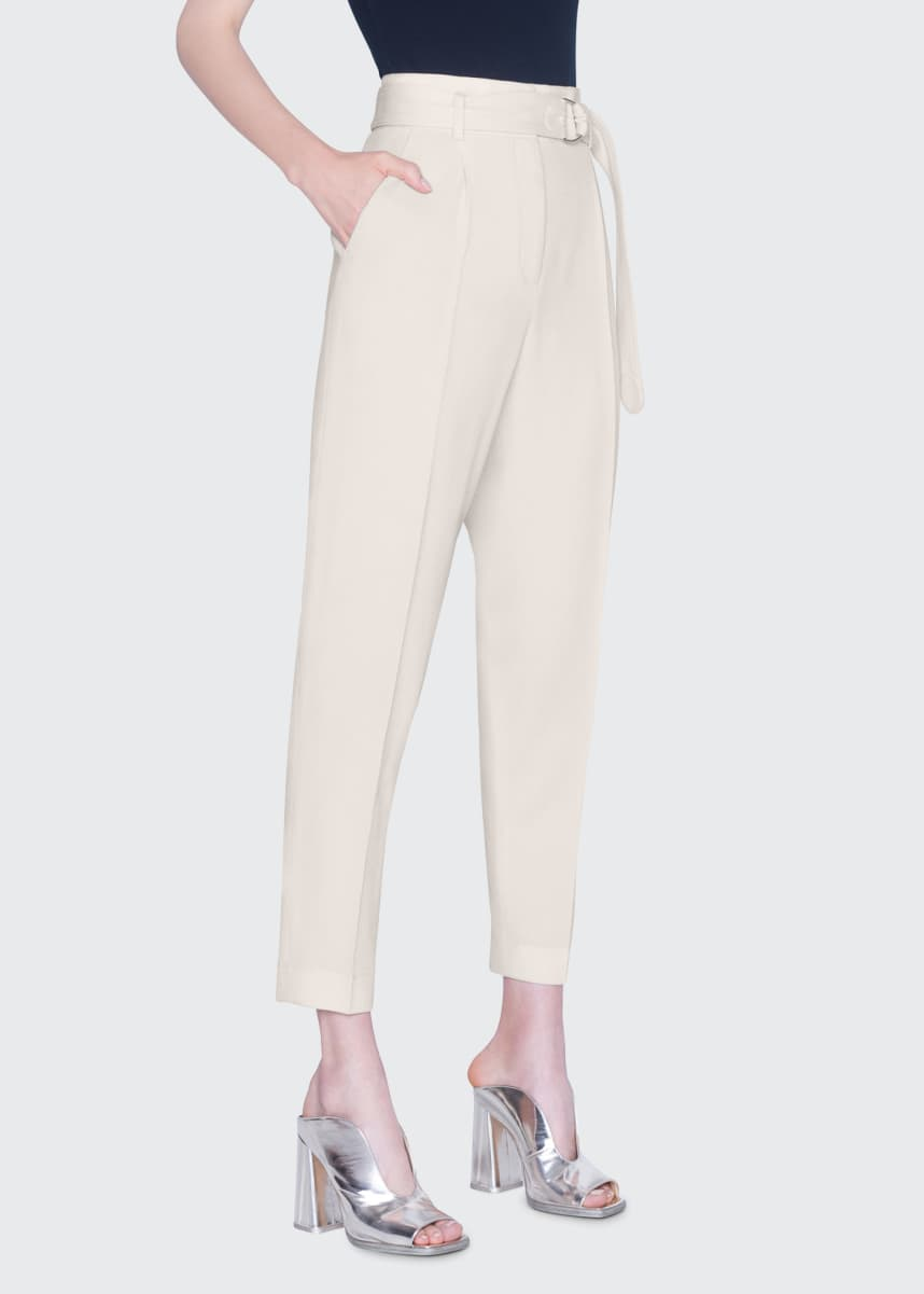 Akris punto Fred Self-Belted Straight-Leg Pants