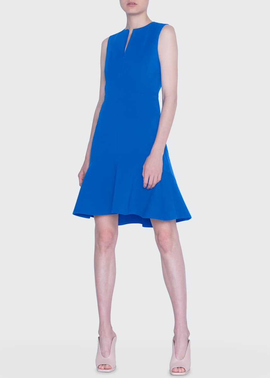 Akris punto Techno-Stretch Flounce Dress