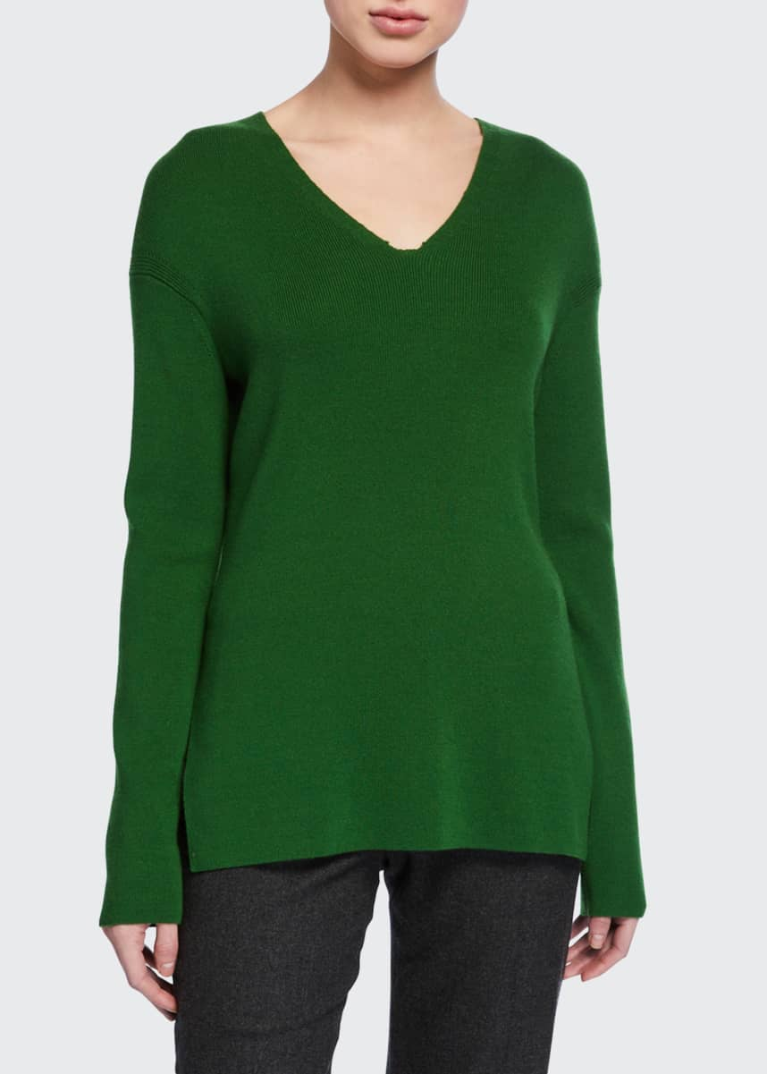 Loro Piana Canary Baby-Cashmere V-Neck Sweater