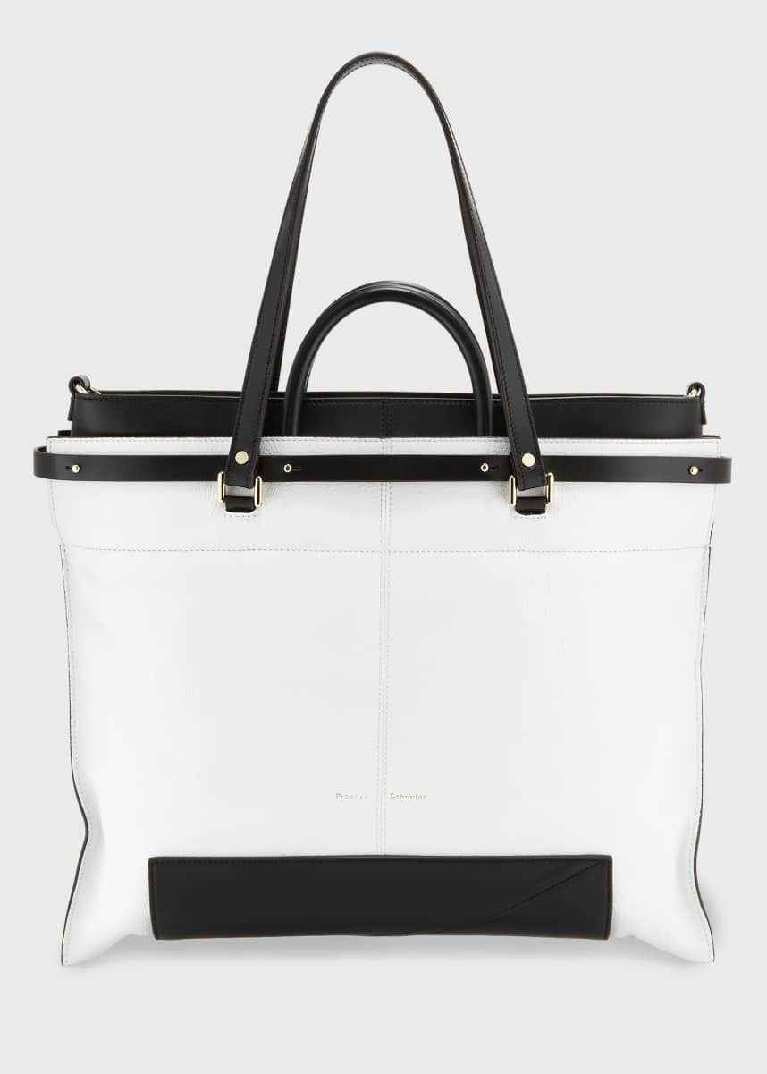 Proenza Schouler Bicolor Large Shopper Tote Bag