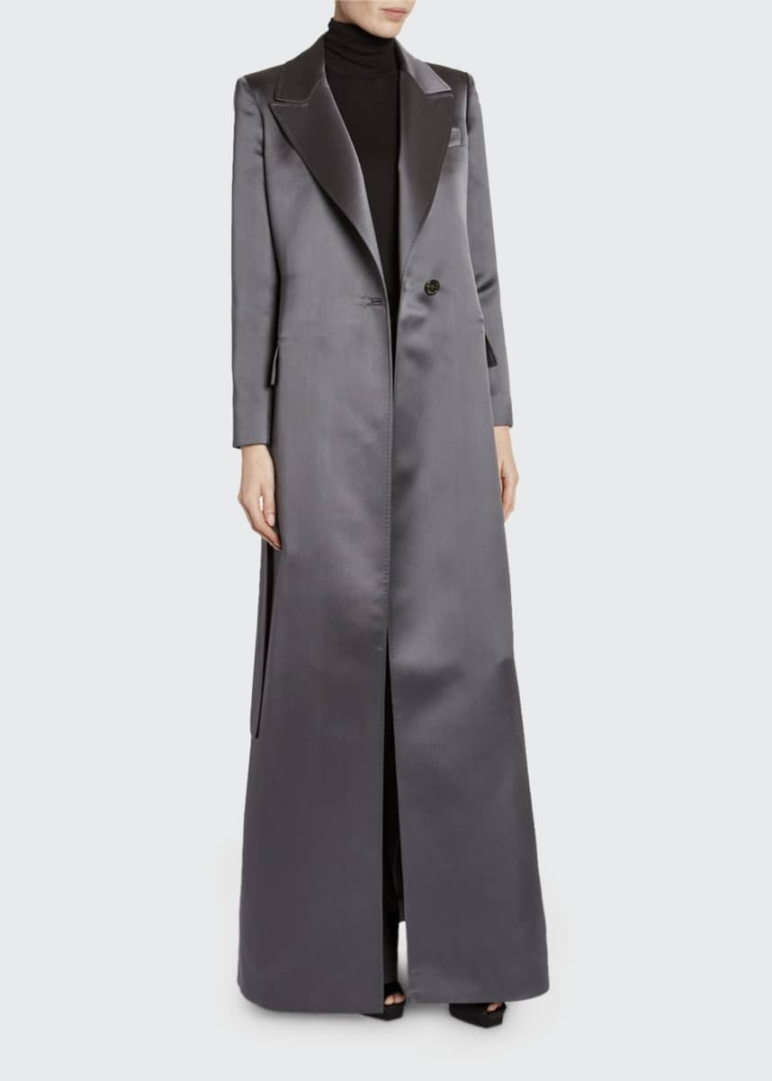 TOM FORD Floor-Length Satin Evening Coat