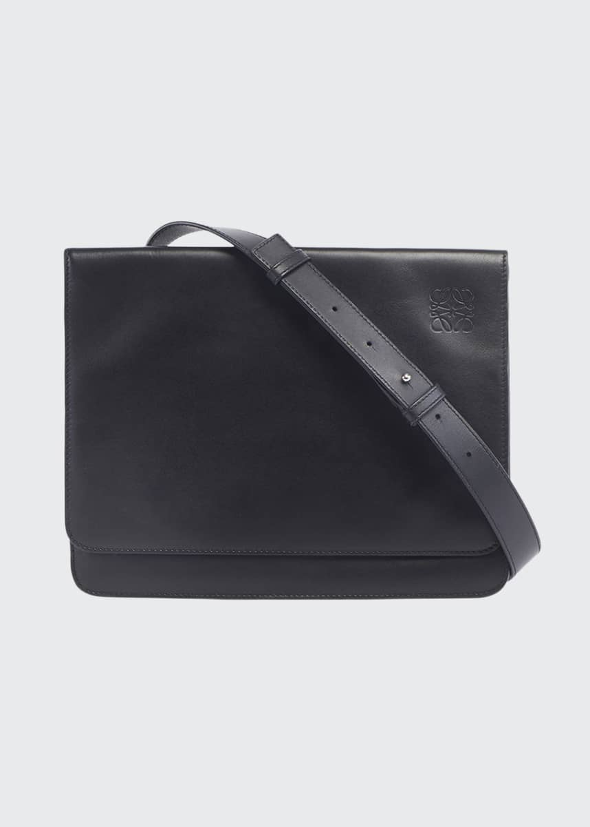 Loewe Men's Flat Leather Messenger Bag