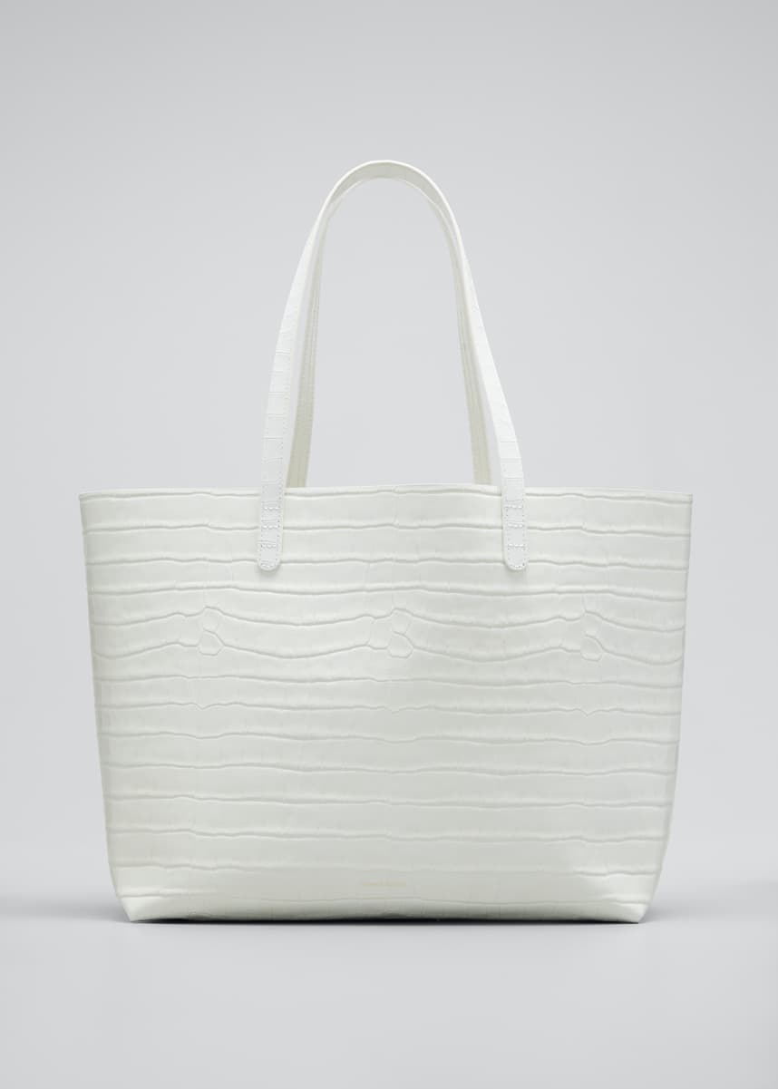 Mansur Gavriel Large Crocodile-Embossed Tote Bag