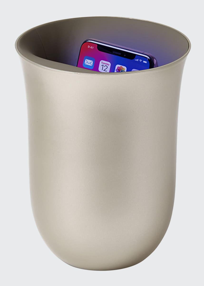 Lexon Design Oblio Wireless Charging Station with Built-In UV Sanitizer