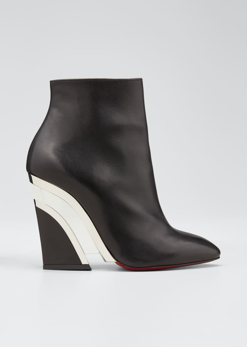 Christian Louboutin Leviti Zip Red Sole Booties