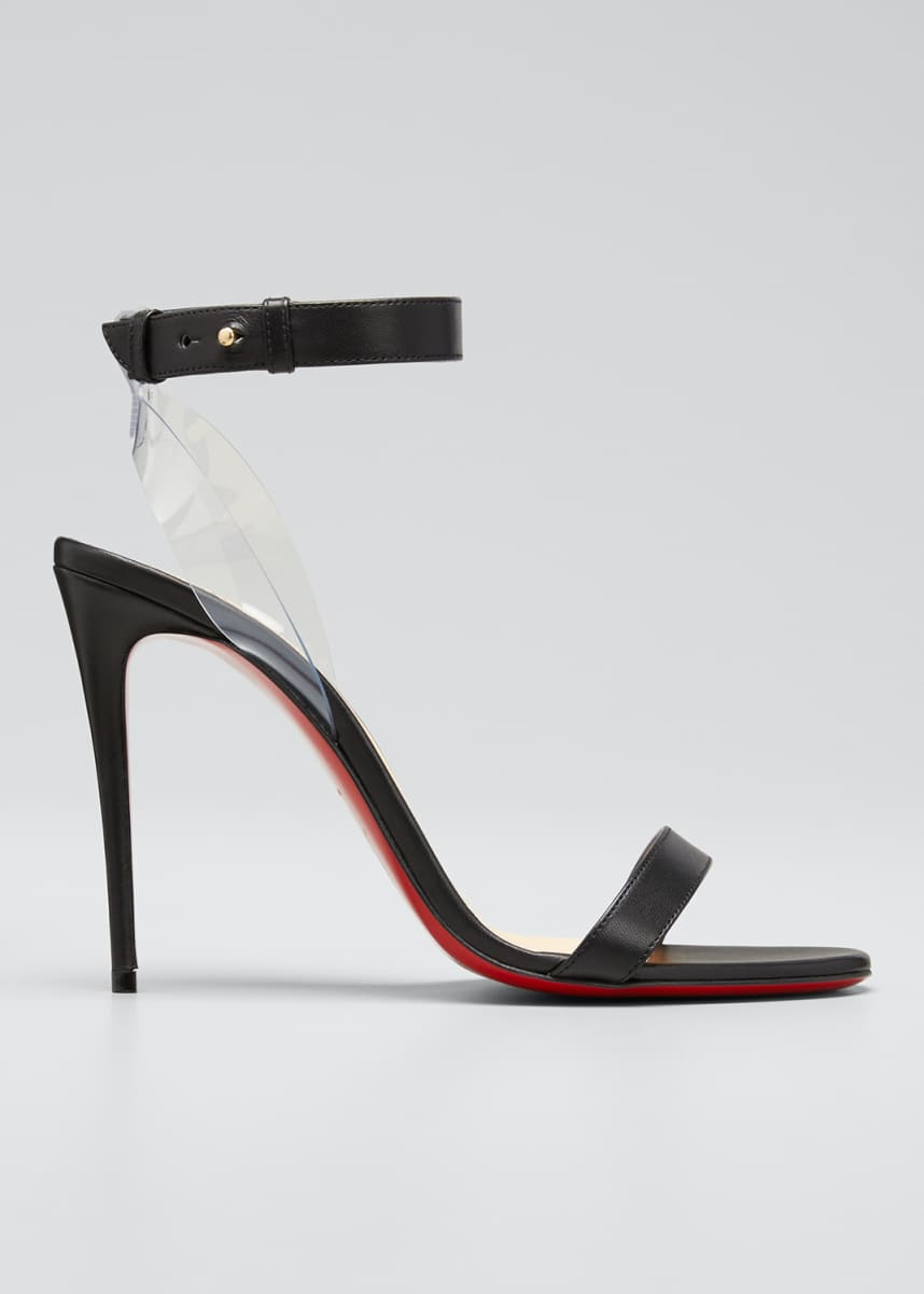 Christian Louboutin Jonatina Leather Red Sole Sandals