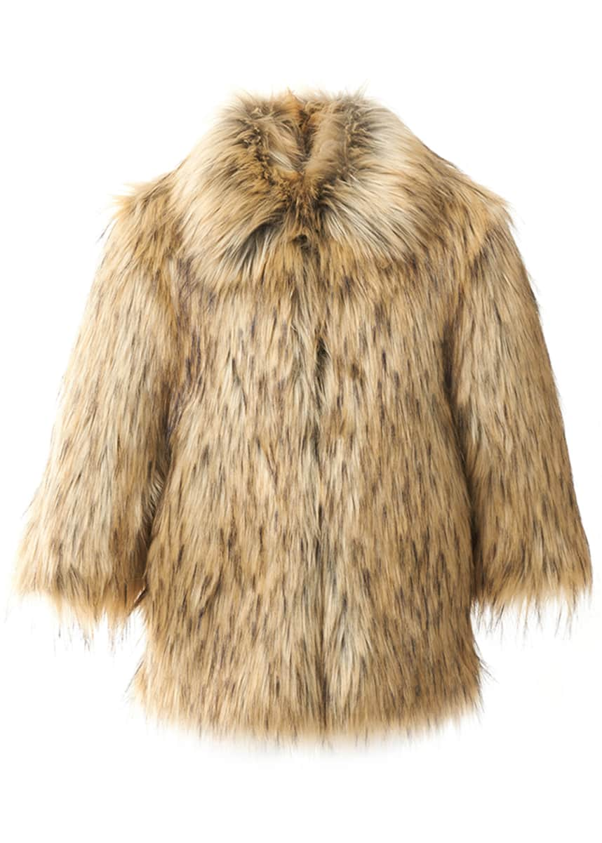 Fabulous Furs Kid's Faux-Fur Coat, Size XXS-L