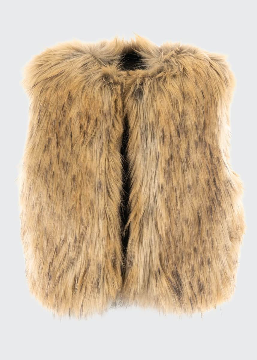Fabulous Furs Kid's Fashion Faux Fur Vest, Size XXS-L