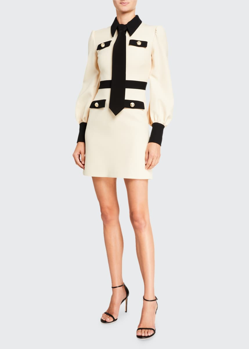 Gucci Contrast-Trim Cady Crepe Dress