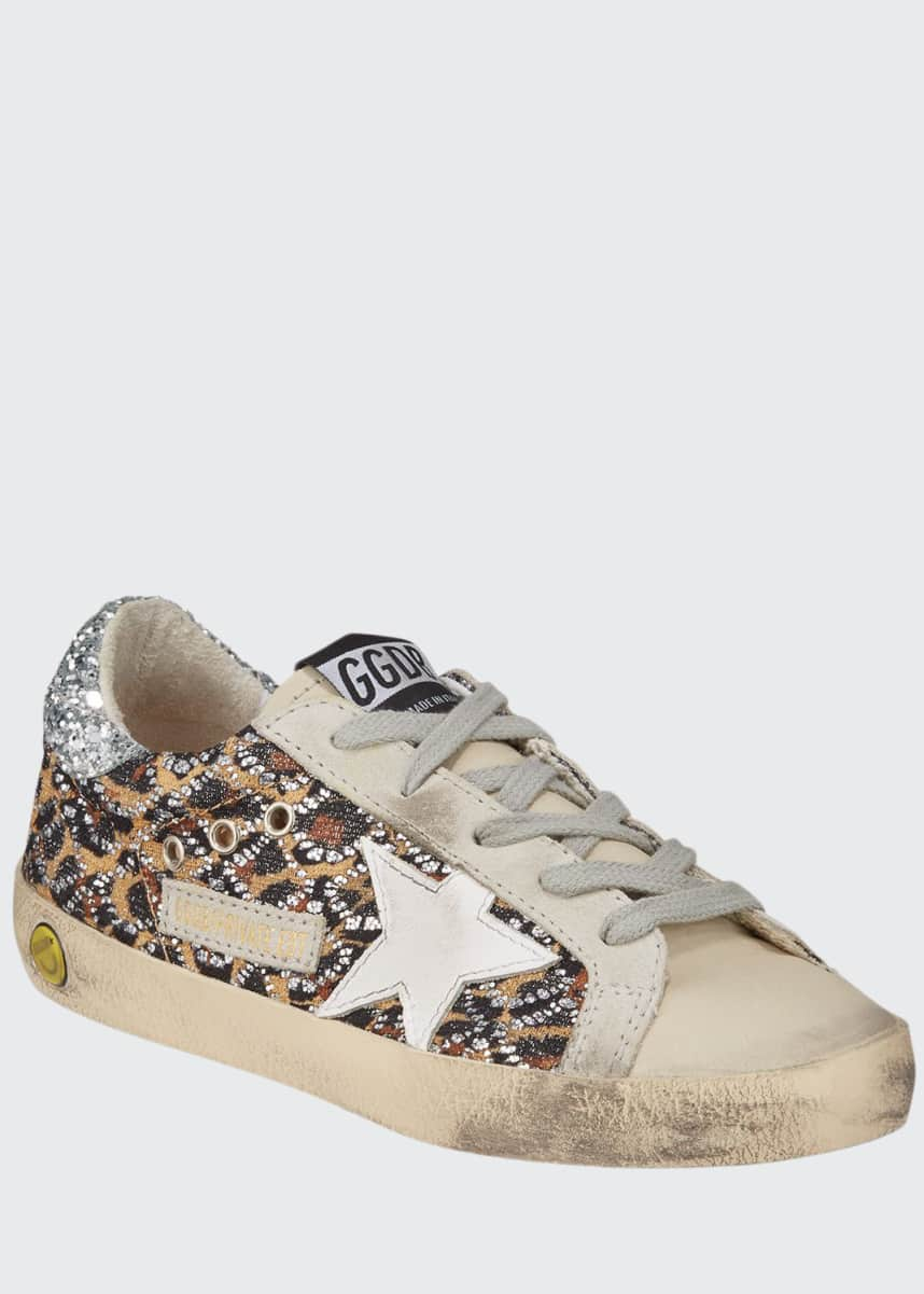 Golden Goose Superstar Leopard Embellished Sneakers, Baby/Toddler