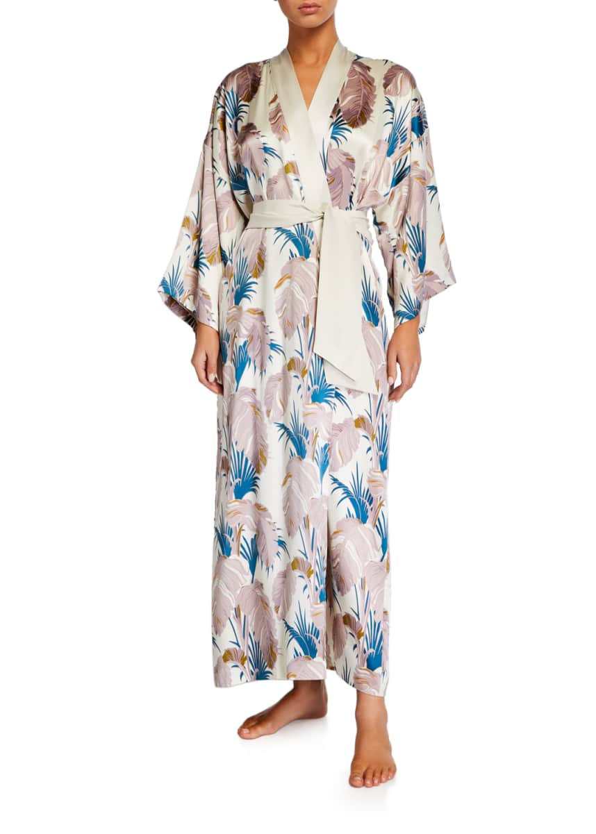 Olivia Von Halle Queenie Pandora Long Silk Robe