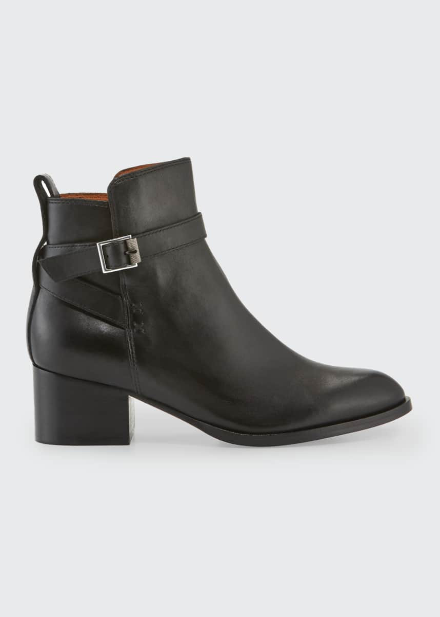 Rag & Bone Walker Buckle Leather Ankle Boots