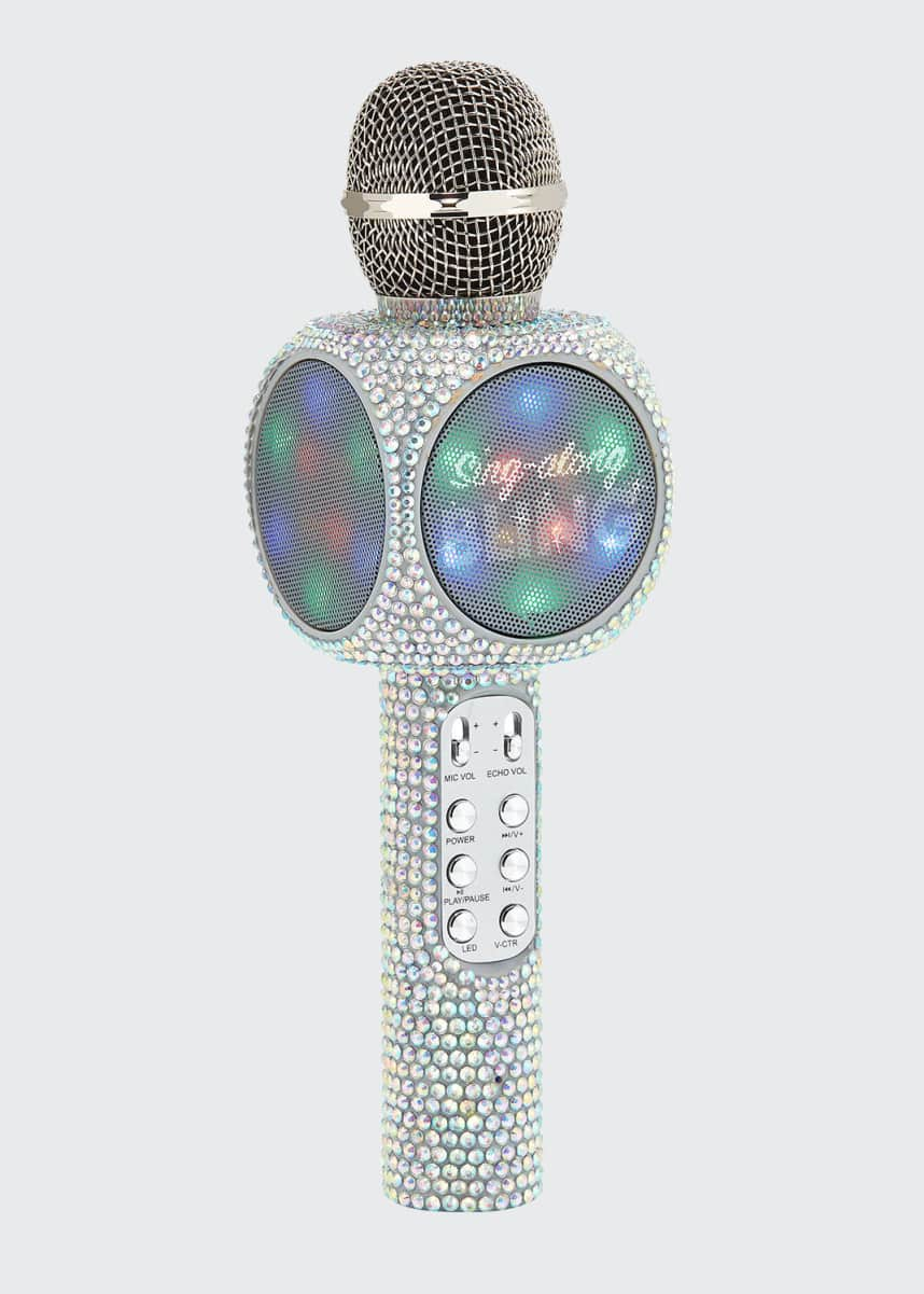 Wireless Express Sing-Along Iridescent Bling Karaoke Microphone