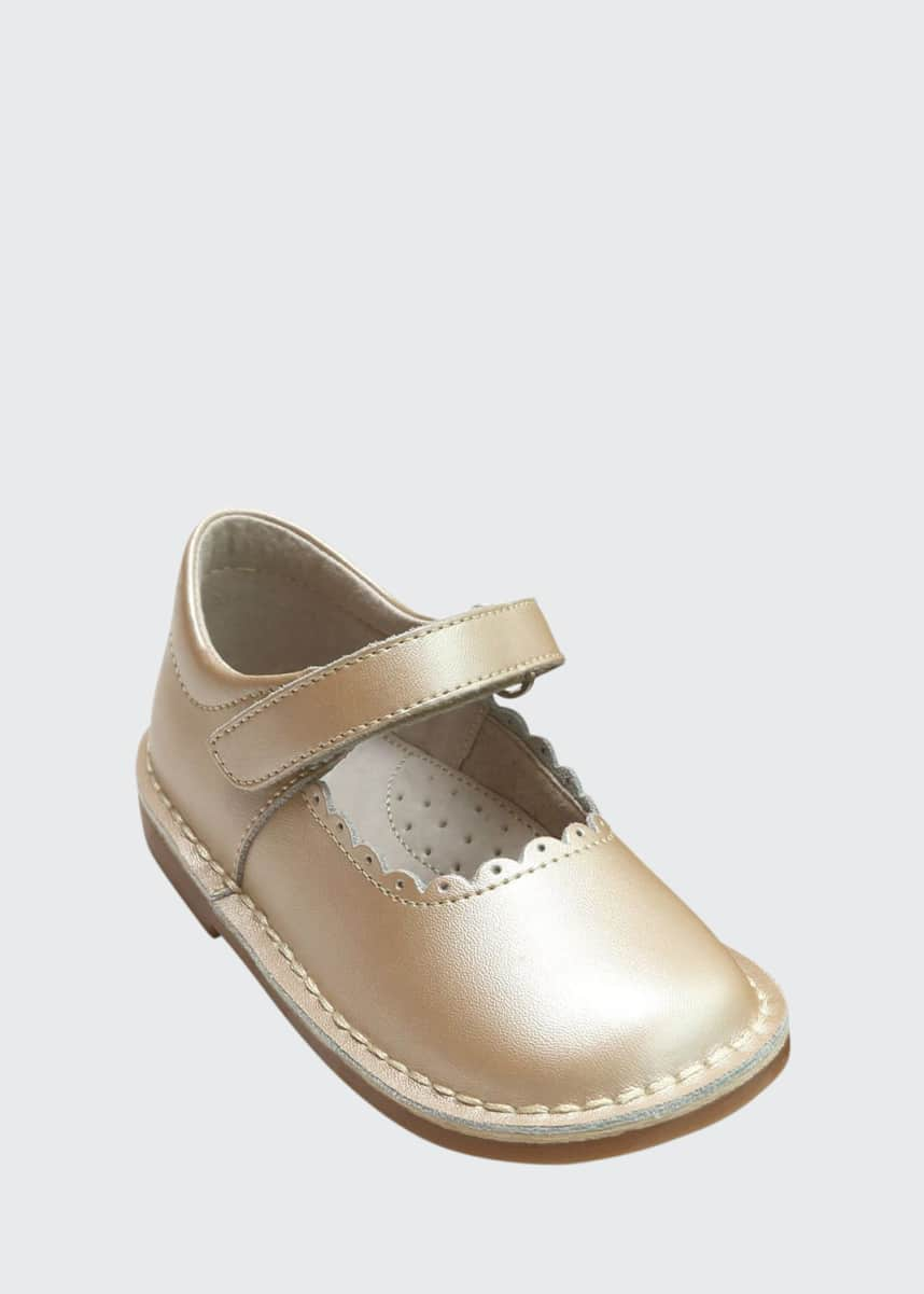 L'Amour Shoes Caitlin Scalloped Mary Jane, Toddler/Kids