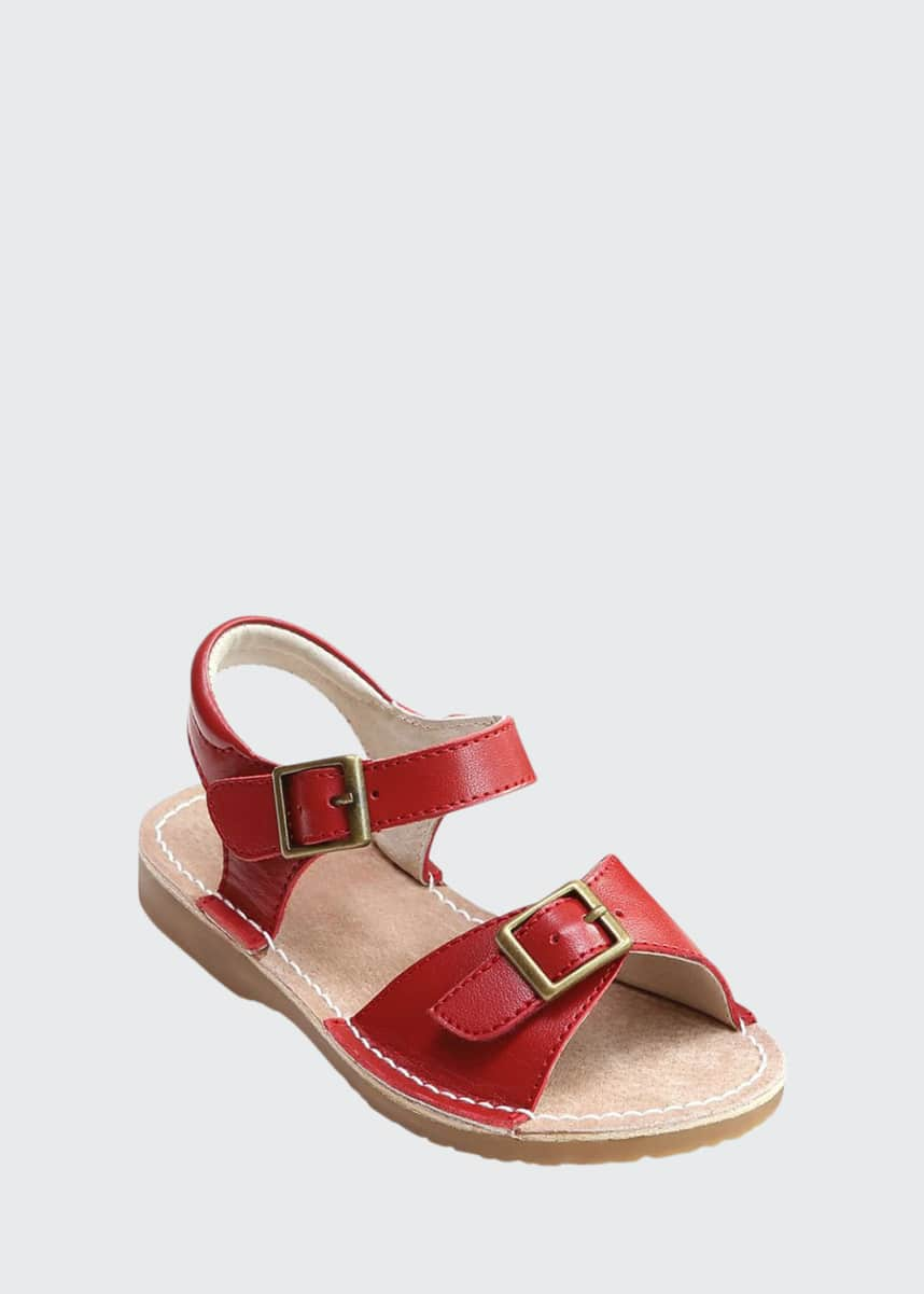 L'Amour Shoes Olivia Leather Buckle Open-Toe Sandal, Toddler/Kids