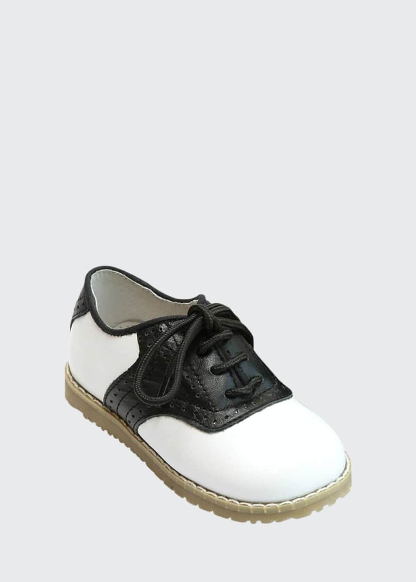 L'Amour Shoes Luke Two-Tone Leather Saddle Shoes, Toddler/Kids