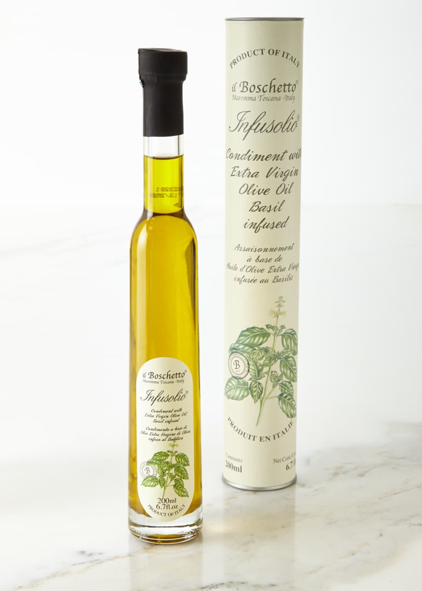 Il Boschetto Basil Infused Extra Virgin Olive Oil, 200 mL