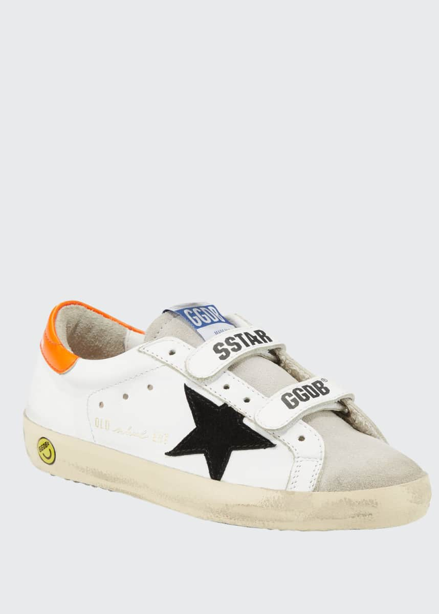 Golden Goose Boy's Old School Leather Sneakers, Toddler/Kids