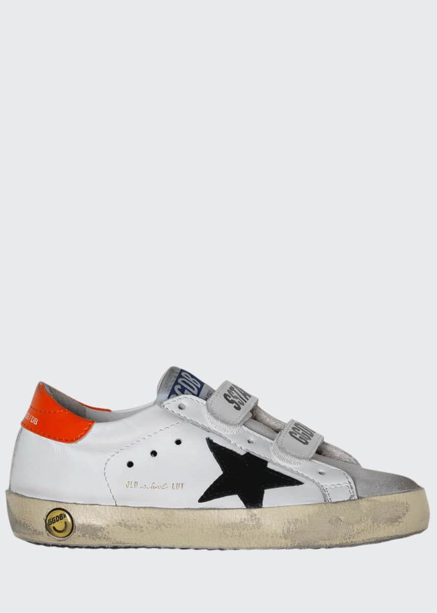 Golden Goose Boy's Old School Leather Sneakers, Baby/Toddler