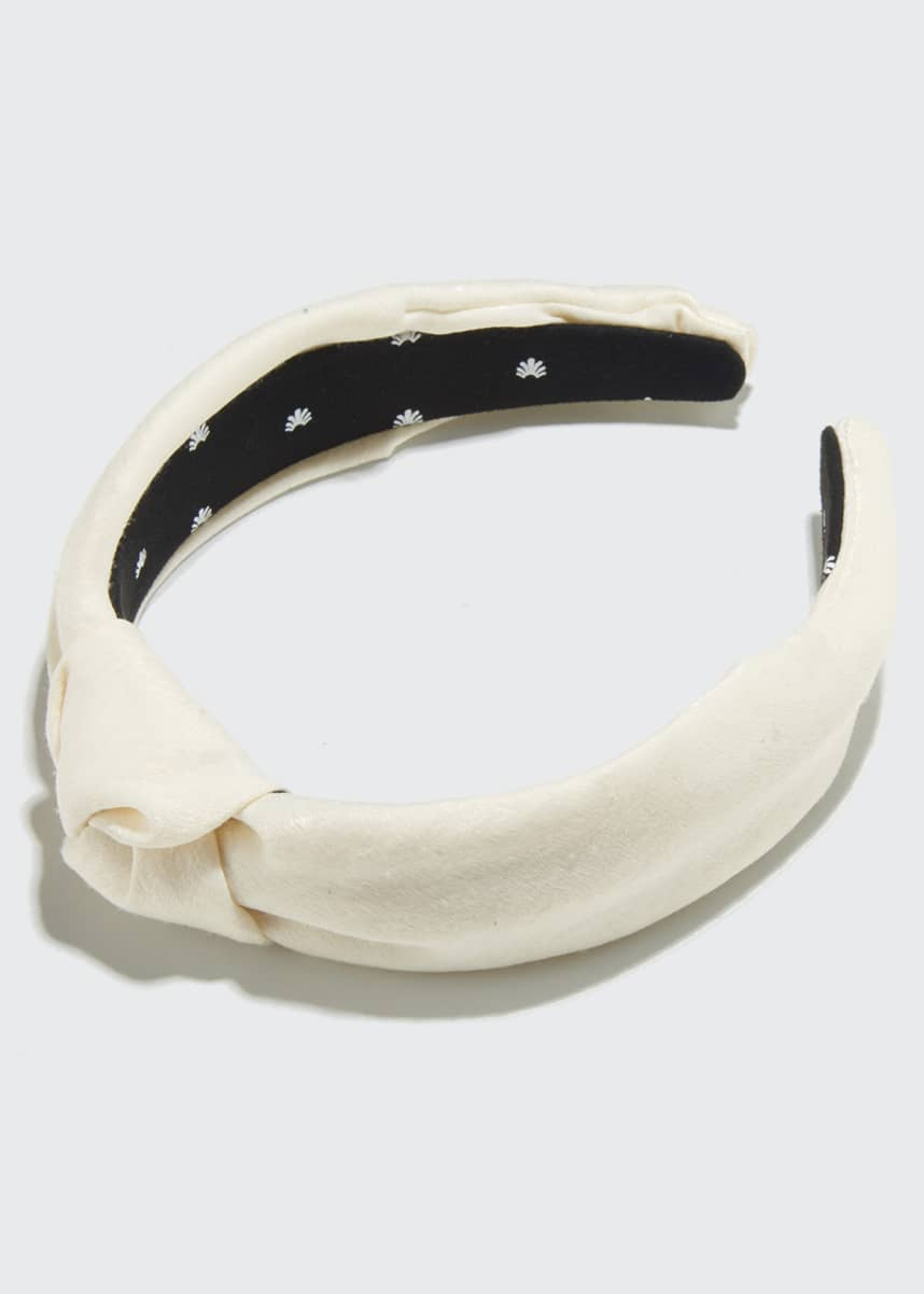 Lele Sadoughi Silk-Blend Knotted Headband