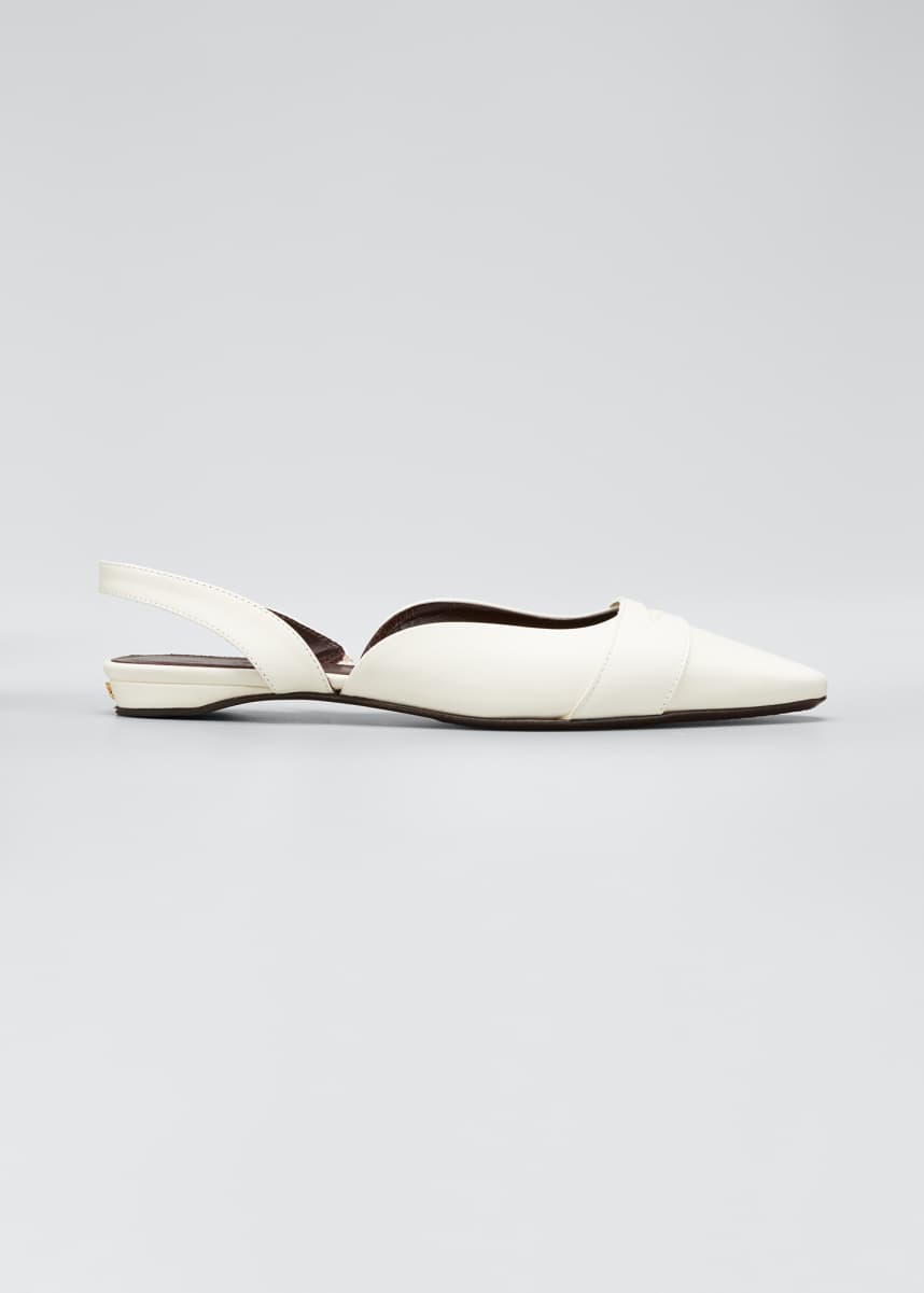 Bougeotte Leather Slingback Ballerina Flats