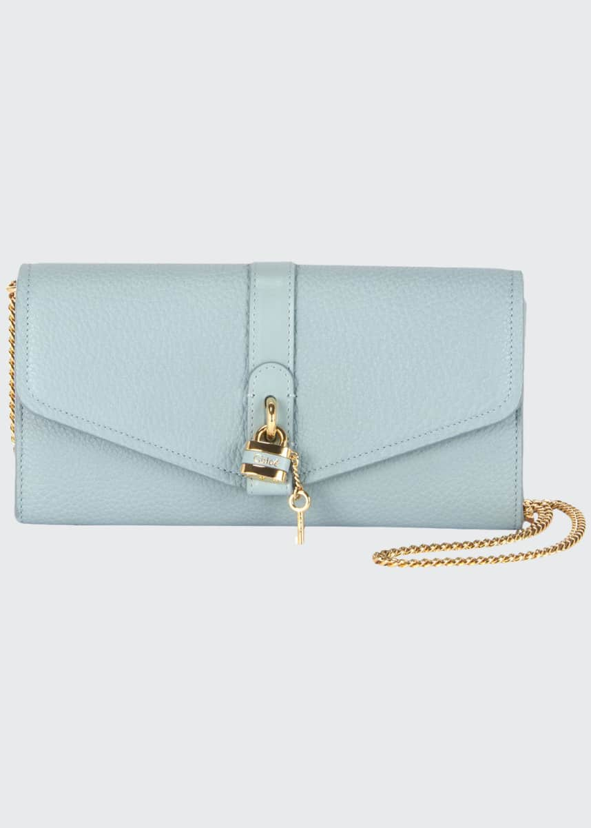 Chloe Aby Long Flap Wallet on Chain