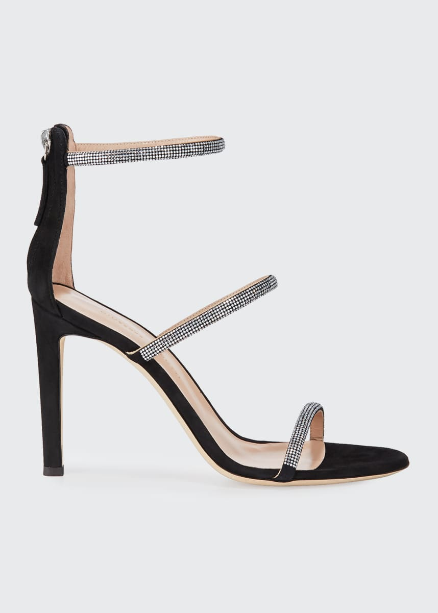 Giuseppe Zanotti Suede and Crystal Sandals