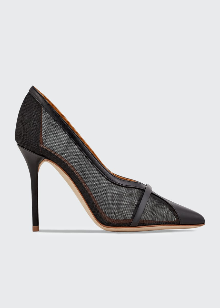 Malone Souliers Brook 85mm Sheer Mesh Stiletto Pumps