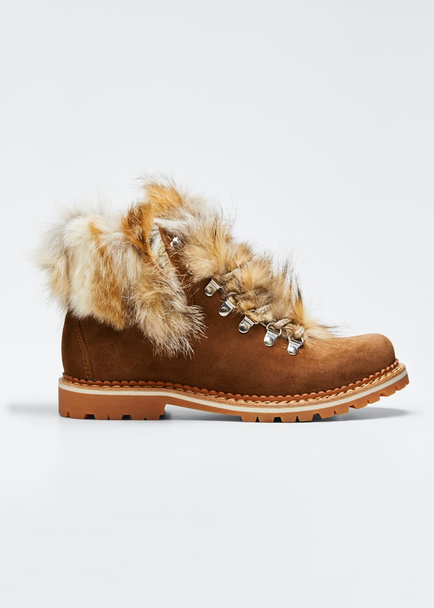 Montelliana 1965 Camelia Boots with Fox Fur