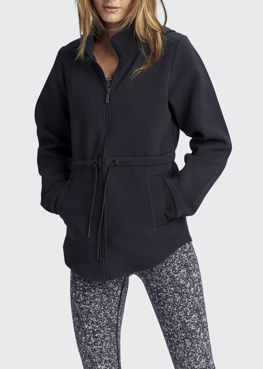Varley Dahlia Cinched-Waist Hooded Jacket