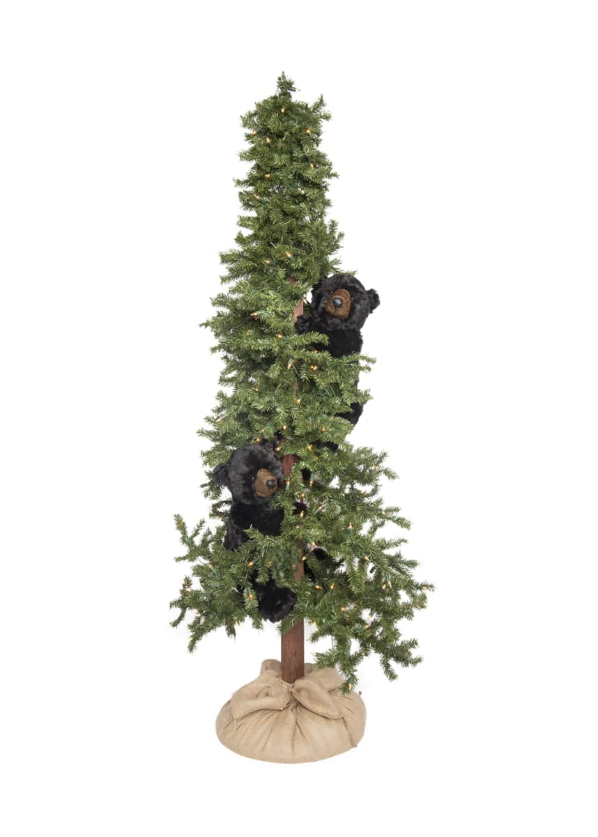 Ditz Designs By The Hen House Alpine Bear Frolic Tree, 72""