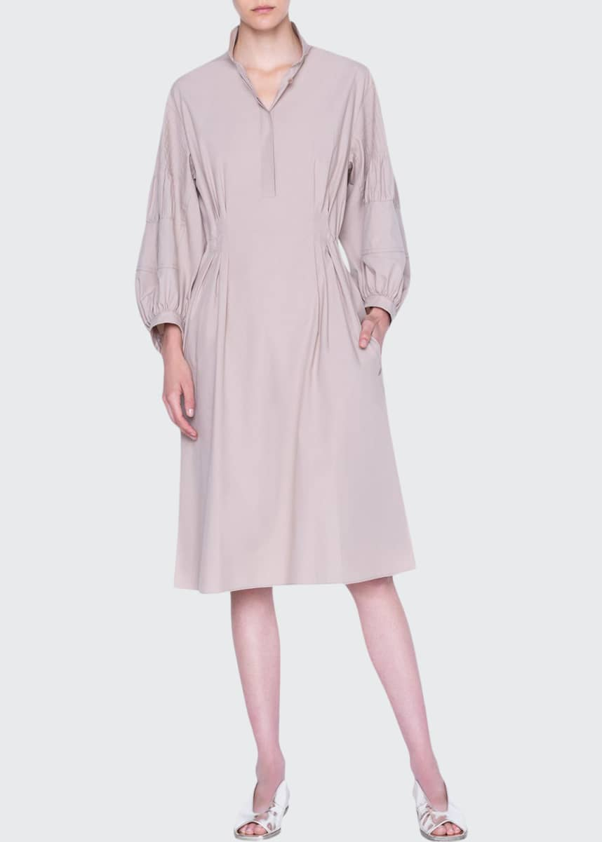Akris punto Washed Poplin Midi Shirtdress
