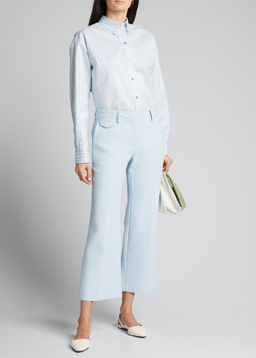 Sies Marjan Crepe Flared Crop Trousers