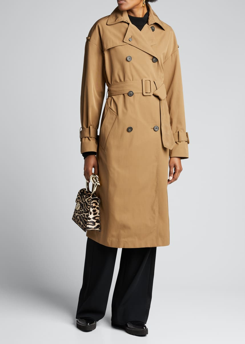 Vince Belted Tech Trench Coat