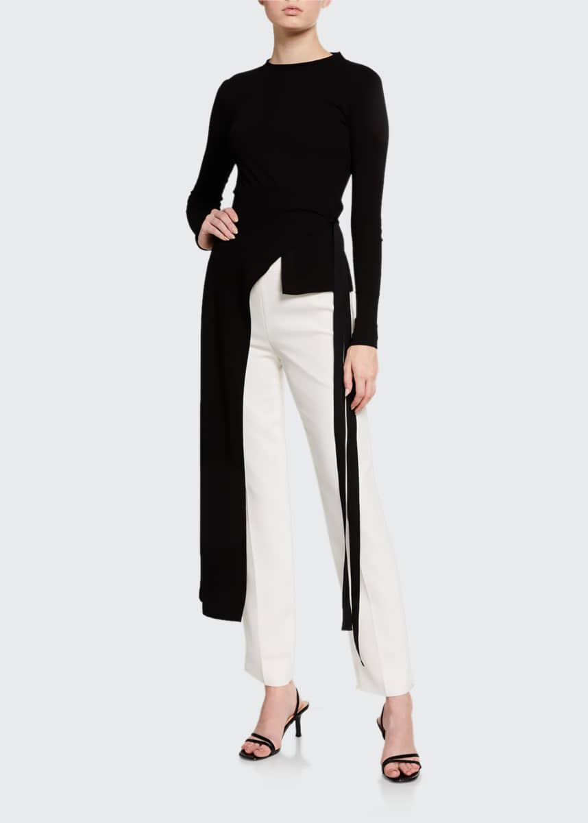 Rosetta Getty Split-Apron Long-Sleeve Shirt