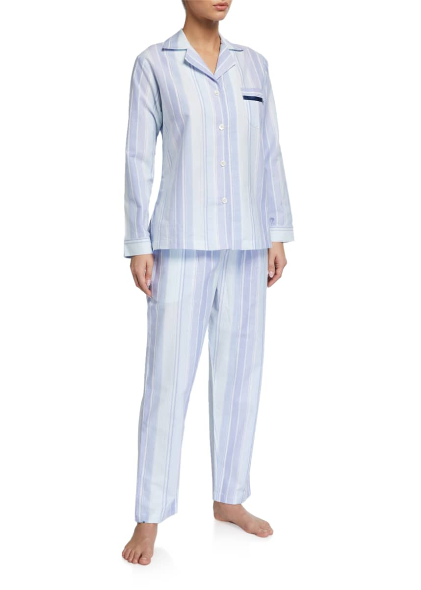 P Jamas Striped Woven Pajama Set