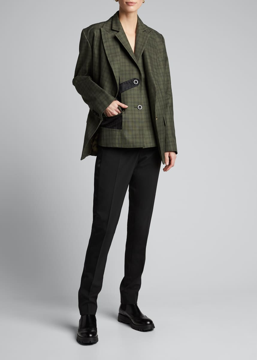 SACAI Glen-Checked Tailored Blazer