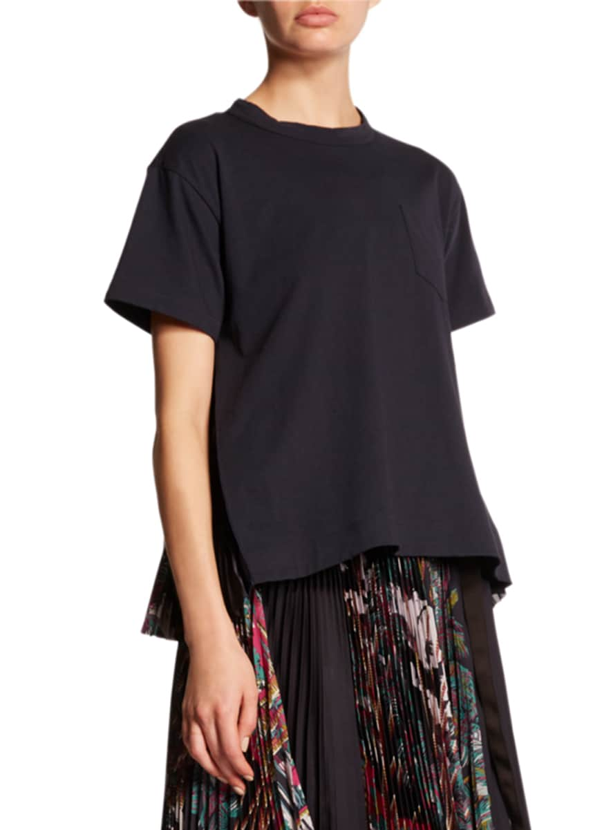 SACAI Pleated-Back Tee