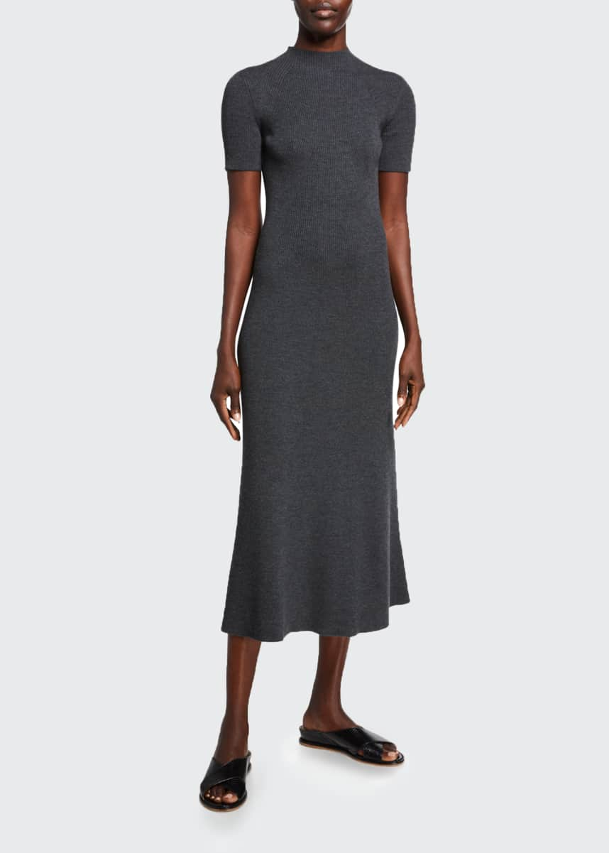Gabriela Hearst Clare Short-Sleeve Dress