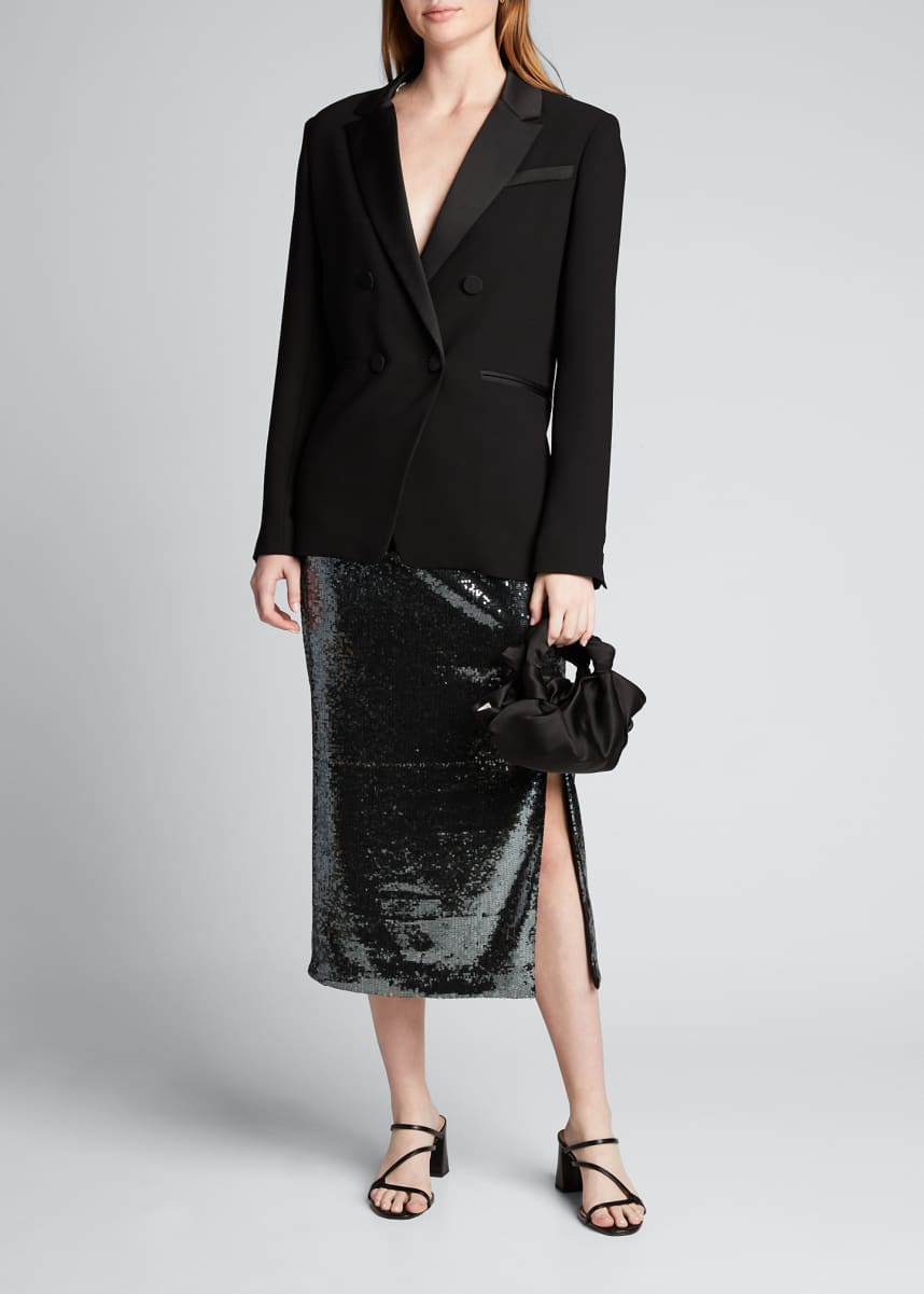 Prabal Gurung Sequined Pencil Midi Skirt