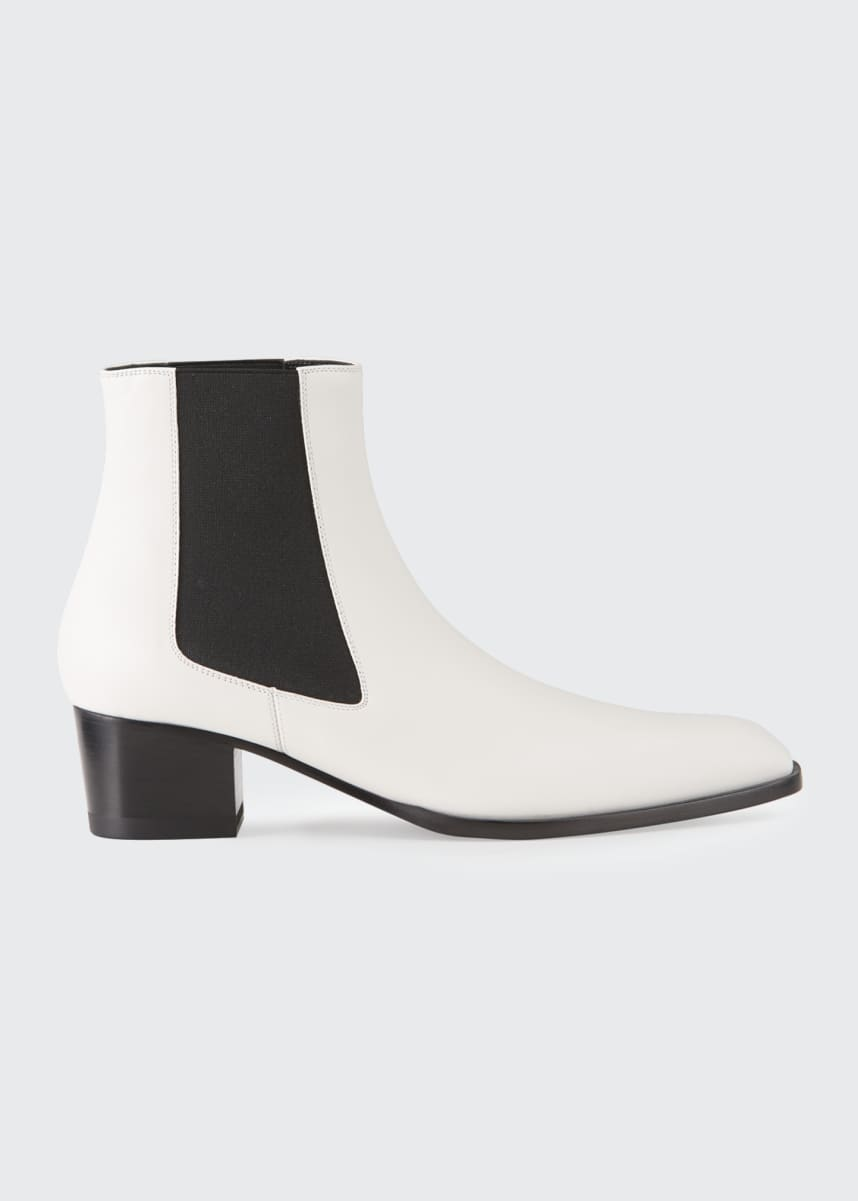 TOM FORD Leather Pull-On Booties