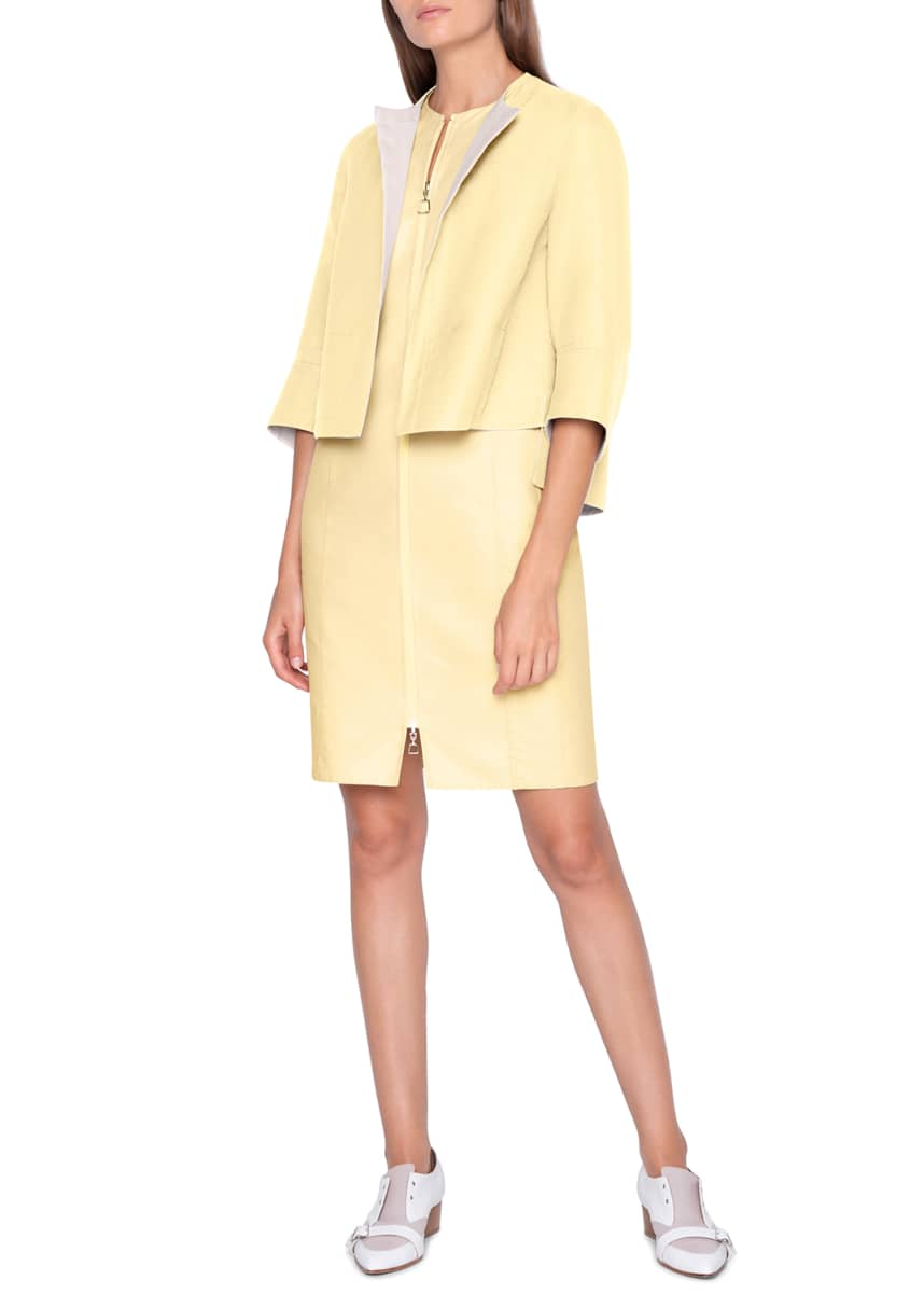 Akris Two-Tone Reversible Boxy Jacket