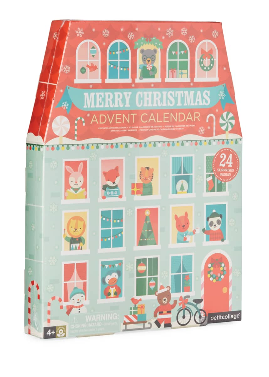 Petit Collage Merry Christmas Pop Out Advent Calendar