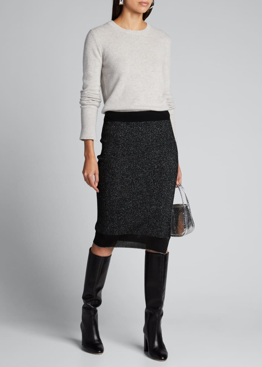Rag & Bone Rower Metallic Knit Skirt