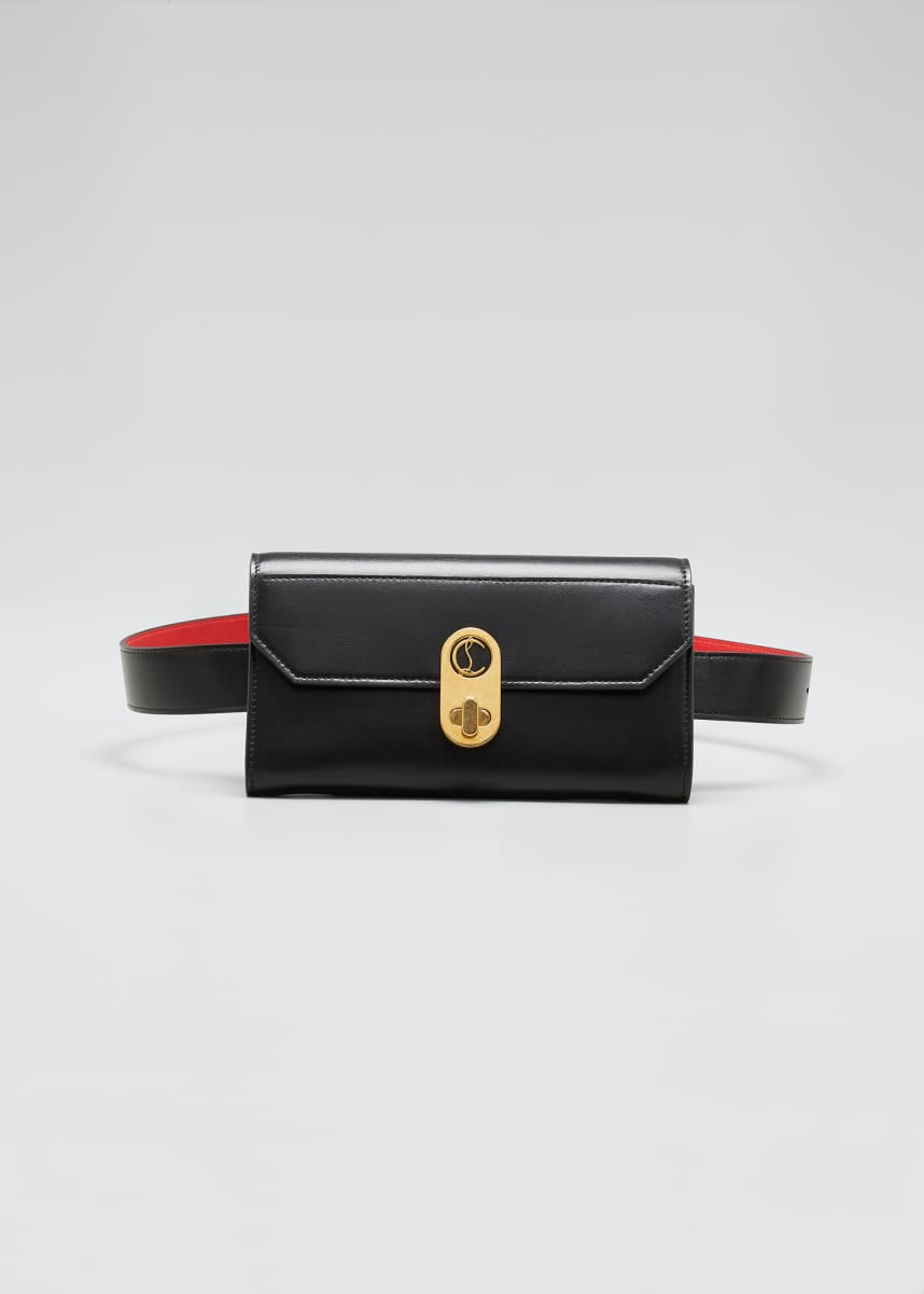 Christian Louboutin Elisa Paris Leather Belt Bag/Wallet on Chain
