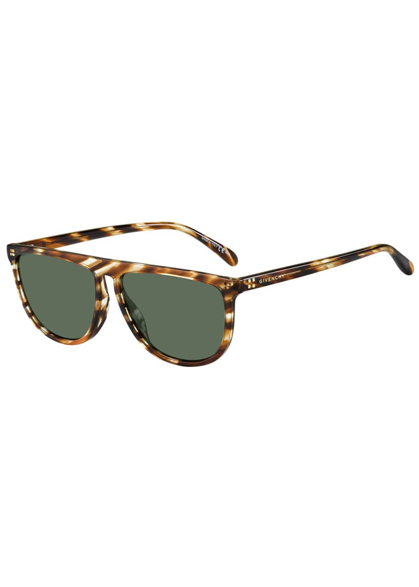 Givenchy Flattop Rounded Acetate Sunglasses