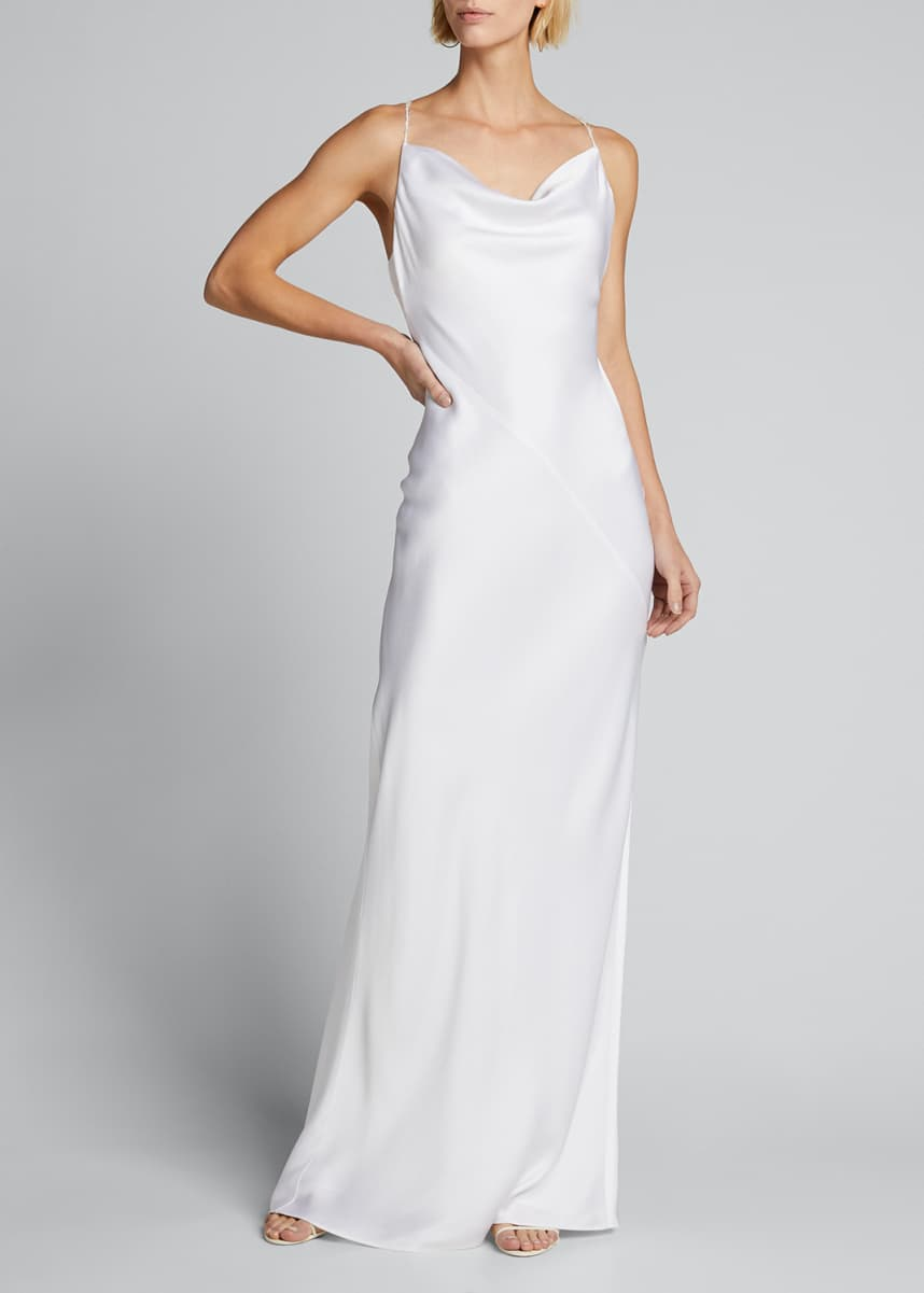 Jason Wu Collection Cowl-Neck Satin Slip Gown